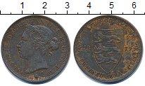 Изображение Монеты Остров Джерси 1/12 шиллинга 1877 Бронза XF