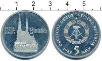 Изображение Монеты ГДР 5 марок 1989 Медно-никель Proof Церковь  Святой  Ека