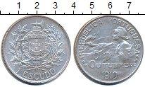 Изображение Монеты Португалия 1 эскудо 1914 Серебро XF+ Рождение  Республики