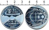 Изображение Монеты Италия 5 евро 2004 Серебро Proof Чемпионат  мира  по