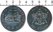 Изображение Монеты Сент-Люсия 10 долларов 1982 Медно-никель UNC 200 - летие  битвы
