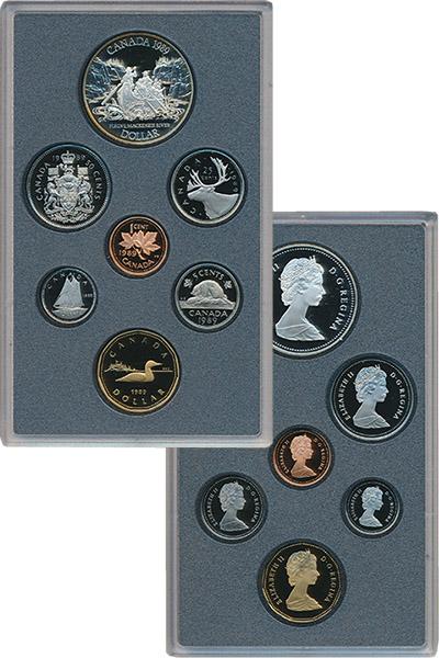 Изображение Подарочные монеты Канада Набор 1989 года 1989  Proof В набор входят шесть
