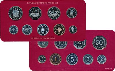 Изображение Подарочные монеты Мальта 10 лет Перехода на десятичную систему 1982  Proof