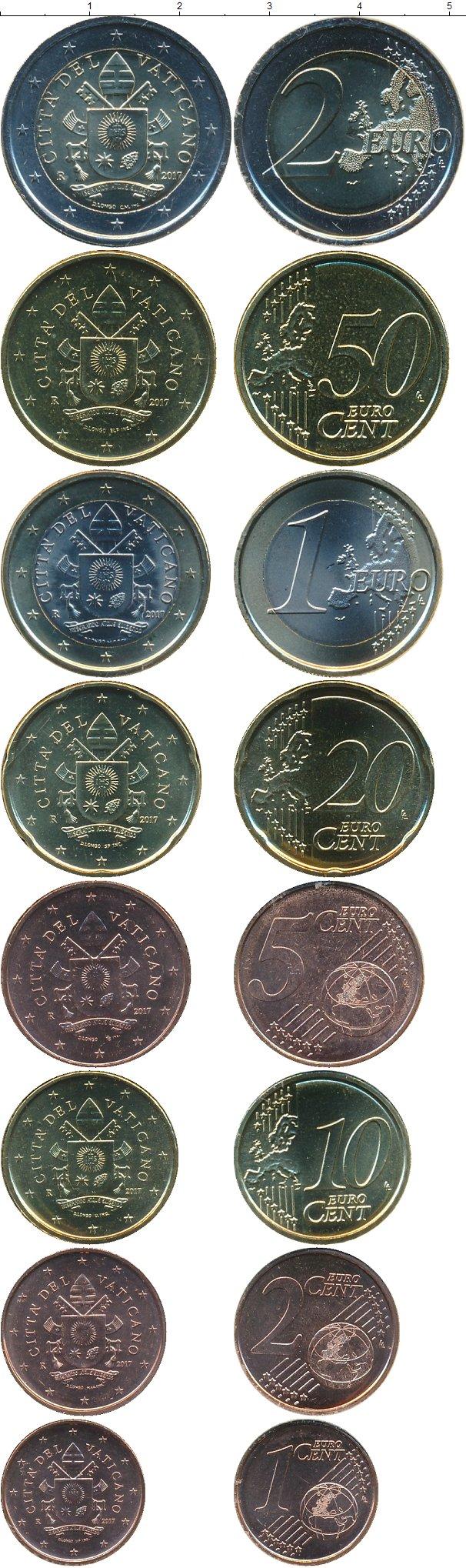 Картинка Подарочные монеты Ватикан Набор 2017 года  2017