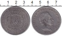 Изображение Монеты Сардиния 5 лир 1827 Серебро XF-