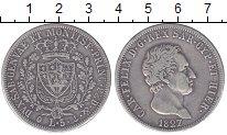 Изображение Монеты Сардиния 5 лир 1827 Серебро XF