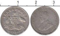 Изображение Монеты Австралия 3 пенса 1912 Серебро XF Георг V