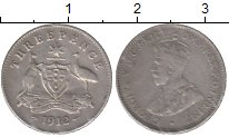 Изображение Монеты Австралия 3 пенса 1912 Серебро XF