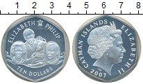 Изображение Монеты Каймановы острова 10 долларов 2007 Серебро Proof- Бриллиантовая  свадь