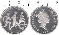 Изображение Монеты Острова Кука 5 долларов 1991 Серебро Proof- Елизавета II.  Чемпи
