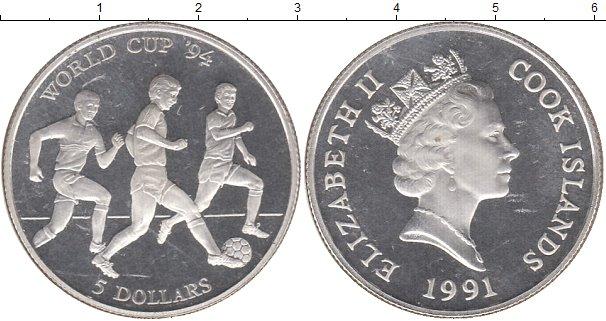 Картинка Монеты Острова Кука 5 долларов Серебро 1991