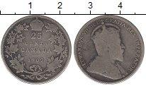 Изображение Монеты Канада 25 центов 1907 Серебро VF