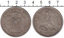 Изображение Монеты Чили 1 песо 1877 Серебро XF Кондор