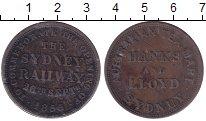 Изображение Монеты Австралия 1 пенни 1855 Медь XF