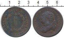 Изображение Монеты Франция 12 динерс 1791 Медь XF Людовик XVI