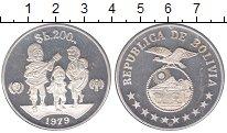 Изображение Монеты Боливия 200 боливар 1979 Серебро XF
