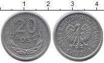 Изображение Барахолка Польша 20 грошей 1975 Алюминий XF