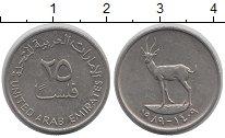 Изображение Дешевые монеты ОАЭ 25 филс 1989 Медно-никель XF