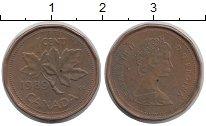 Изображение Дешевые монеты Канада 1 цент 1989 сталь с медным покрытием XF-