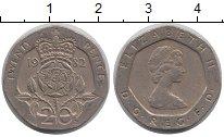 Изображение Барахолка Великобритания 20 пенсов 1982 Медно-никель XF