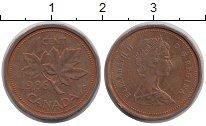 Изображение Дешевые монеты Канада 1 цент 1986 сталь с медным покрытием XF-