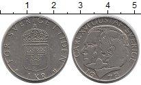 Изображение Дешевые монеты Швеция 1 крона 1978 Медно-никель XF Карл XVI Густав