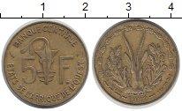 Изображение Барахолка Западная Африка 5 франков 1982 Медно-никель XF