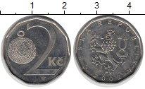 Изображение Дешевые монеты Чехия 2 кроны 2002 Сталь покрытая никелем XF-
