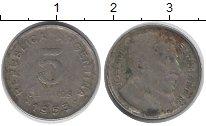 Изображение Дешевые монеты Аргентина 5 сентаво 1953 Сталь покрытая никелем VF-