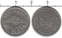 Изображение Дешевые монеты Сингапур 10 центов 1988 Медно-никель XF