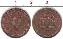 Изображение Барахолка Барбадос 1 цент 1992 сталь с медным покрытием XF
