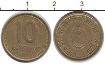 Изображение Дешевые монеты Аргентина 10 сентаво 1993 Медно-никель XF
