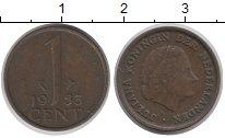 Изображение Барахолка Нидерланды 1 цент 1955 Медь XF