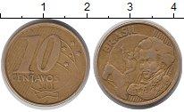 Изображение Дешевые монеты Бразилия 10 сентаво 2001 Латунь XF