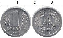 Изображение Барахолка ГДР 1 пфенниг 1984 Алюминий XF