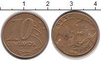 Изображение Дешевые монеты Бразилия 10 сентаво 2011 Латунь-сталь VF