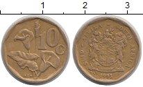 Изображение Дешевые монеты ЮАР 10 центов 1993 Латунь VF+