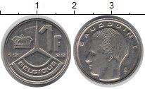 Изображение Барахолка Бельгия 1 франк 1989 Медно-никель XF-