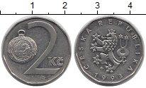 Изображение Дешевые монеты Чехия 2 кроны 1993 Медно-никель XF-