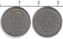 Изображение Дешевые монеты Швеция 10 эре 1963 Медно-никель XF-