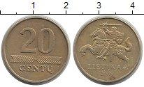 Изображение Дешевые монеты Литва 20 сенти 2009 Латунь XF-