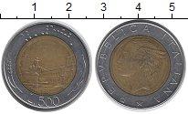 Изображение Дешевые монеты Италия 500 лир 1982 Биметалл XF-