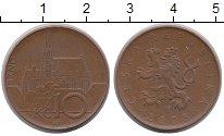 Изображение Дешевые монеты Чехия 10 крон 2003 Латунь-сталь XF