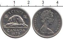 Изображение Дешевые монеты Канада 5 центов 1975 Медно-никель XF