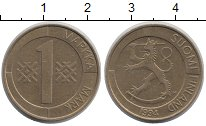 Изображение Дешевые монеты Финляндия 1 марка 1994 Латунь XF