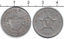 Изображение Дешевые монеты Куба 5 сентаво 1963 Алюминий VF+