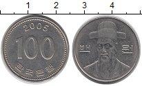 Изображение Дешевые монеты Южная Корея 100 вон 2005 Медно-никель XF-
