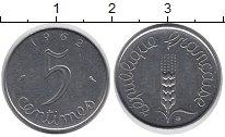 Изображение Дешевые монеты Франция 5 сентим 1962 Сталь XF
