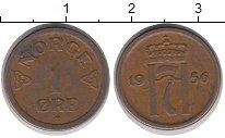Изображение Дешевые монеты Норвегия 1 эре 1956 Медь XF