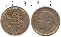 Изображение Дешевые монеты Марокко 20 сантим 1974 Латунь XF-